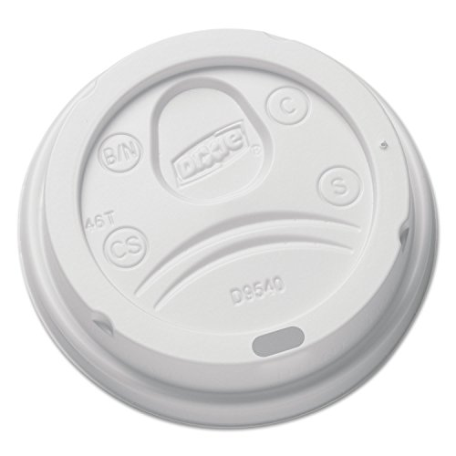 Dixie DL9540 Sip-Through Dome Hot Drink Lids for 10 oz Cups, White, 100/Pack