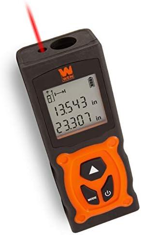 WEN 10165 MultiUnit Compact Digital 120Foot Laser Distance Measure with Backlit LED Screen