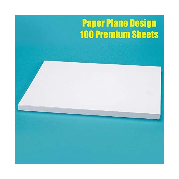Paper Plane Design Set of 100 Sheet A4 size for Letter Head Printing 100 GSM Pure White