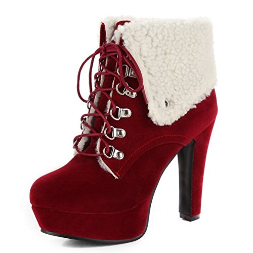 KemeKiss Boots Up Fashion Red Women Lace w0Y04ZTq