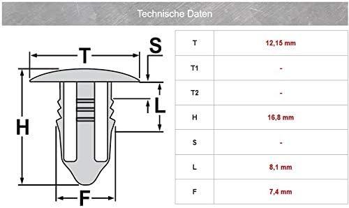 000-987-10-15 Clips de fijaci/ón para revestimiento de puertas 15 unidades