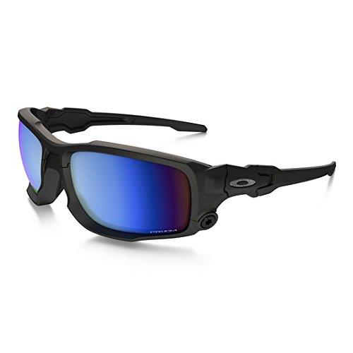 Oakley SI Shocktube Satin Black Prizm Deep Water Polarized Sunglasses ()