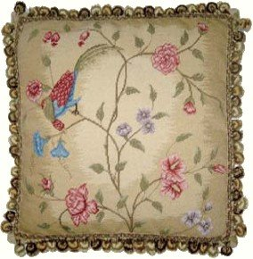 Deluxe Pillows Pheonix Bird Looking Down - 18 x 18 in. needlepoint pillow