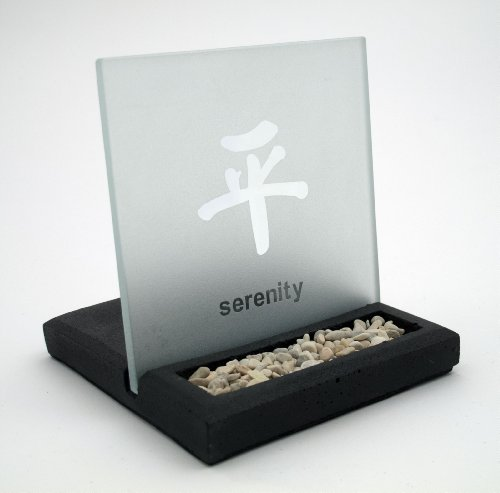 Stone and Glass Tealight Candle Holder - Serenity Candle Holder
