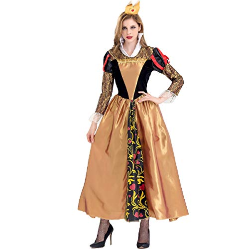 Simmia Halloween Costumes Queen COS Clothing Retro Palace Costume Halloween Poison Queen, 9066, -