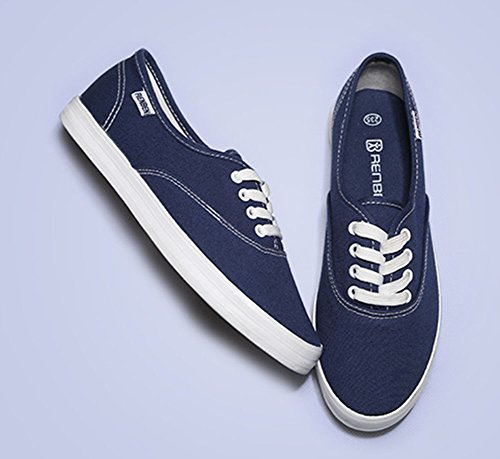 Sfnld Mujeres Fall Spring Slip On Mocasines Zapatos Sneaker Blue