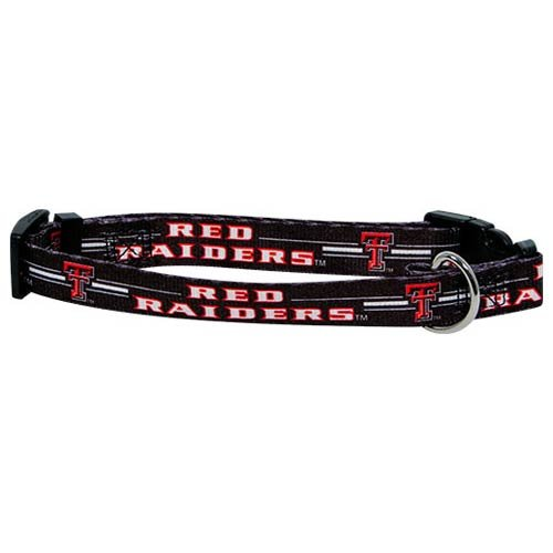 "Texas Tech Red Raiders NCAA Dog Collar S: 10-14"" length, 5/8"" width"