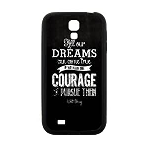 Walt Disney Dream Quotes Design Hard Case Cover Protector For Samsung Galaxy S4
