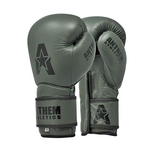 (Anthem Athletics STORMBRINGER II Leather Boxing Gloves - Muay Thai, Kickboxing, Striking - Matte Army Green - 16 oz.)