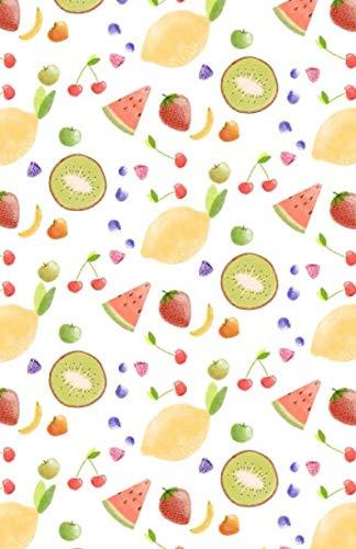 Bullet Journal: Cute Fruits Lemon Watermelon Kiwi Cherry Notebook, Dotted Grid, (5.5 x 8.5) ()