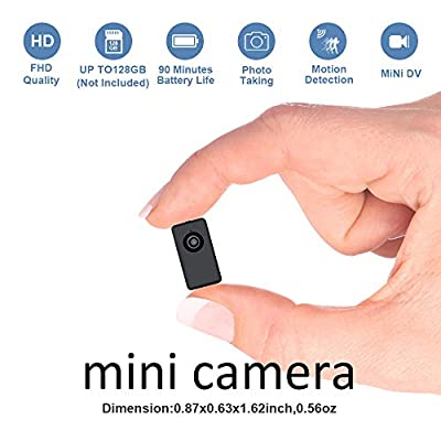 Mini Camera Recorder Battery Powered,Fuvision Portable Nanny Camera with Motion Detect, 90 Minutes Battery Life, Loop Recording Covert Security DVR Perfect for Home and Office