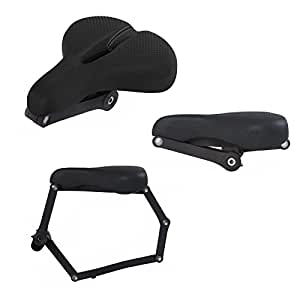 SEATYLOCK Comfort Classic Heavy Premium Secure Duty Drill Resistant Anti-Theft Bicycle Hybrid Saddle Lock for Maximum Protection for your Bike, Smooth Saddle Ride Chameleon Black