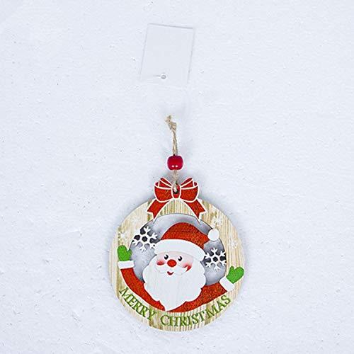 Plush Snowman Family Christmas Wreath - JEWH Cute Santa Clause - Bow Bell Christmas Tree Ornament - Decoration Wooden Snowman Elk - Hanging Pendant Christmas - Decorations for Home (Santa Wreath)