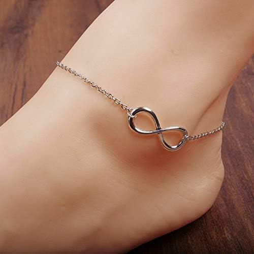 Hemau 5Pcs Gold Silver Pearl Ankle Bracelet Women Anklet Chain Foot Summer Beach Jewel 1062 Model BRCLT