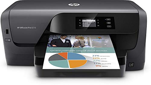 HP OfficeJet Pro 8210 Printer, Instant Ink Compatible + full Spare HP XL Ink set