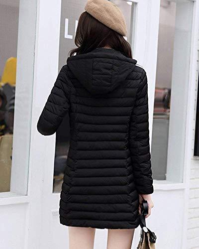 Capispalla Caldo Cappotto Donna Pesante Nero Sottile E Dimensione Parka Invernale colore Lungo M Oudan Da wBqvYvR