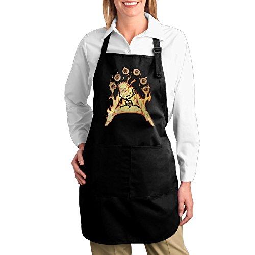 Gaiden Ninja Costume (Manga Naruto Uzumaki Ninja Kitchen Aprons For Women Men,Cooking Apron,bib Apron With)