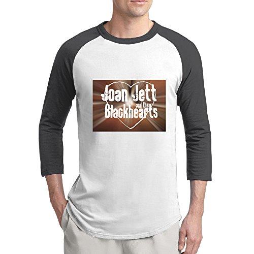 [ReBorn Joan Rock Jett Men Essential Raglan Tshirt Black XXL] (Joan Jett Wig)