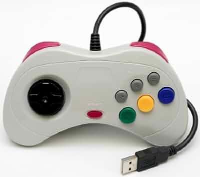 Retro sega saturn usb classic controller white video games - Sega saturn virtual console ...