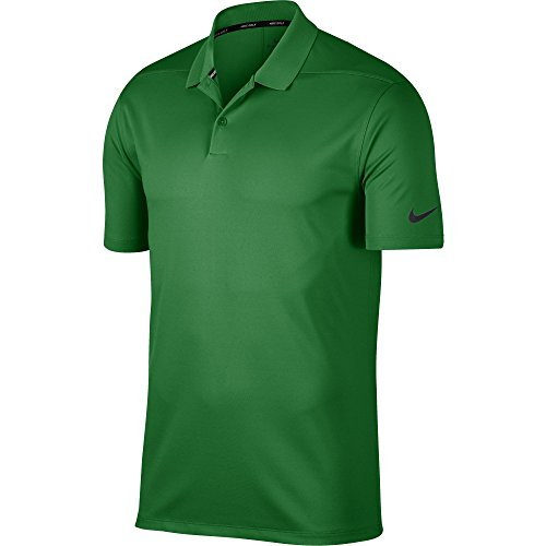 (Nike Men's Dry Victory Solid Golf Polo (Classic Green/Black,)