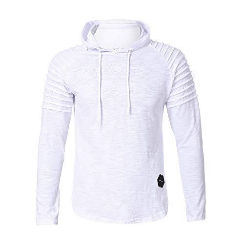 ◕‿◕ Toponly Mens Winter Pleats Slim Fit Raglan Long Sleeve Hoodie Top Blouse