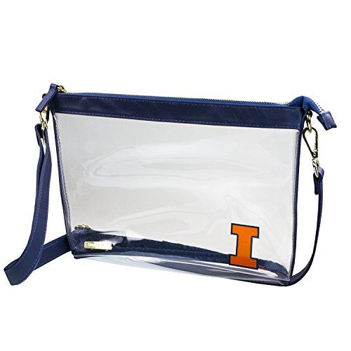 Illinois Football Stadium - Capri Designs Clear Large Crossbody Bag Stadium Approved - UIUC Illini