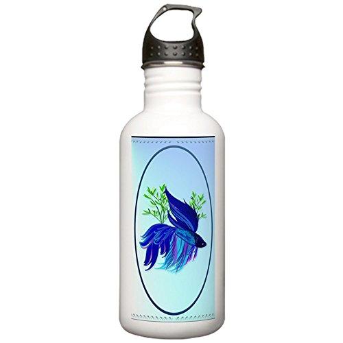 CafePress - OvalJewelBig Blue Siam Stainless Water Bottle 1.0L - Stainless Steel Water Bottle, 1.0L Sports Bottle