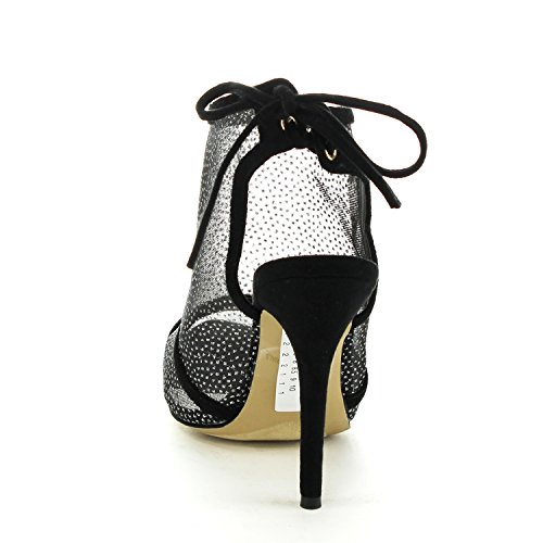 On Womens Outs Eah Heel Back Lace With High Ankle Cut Geal Easos Loop 65121 Black Y7x5qCwftn