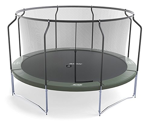 Acon Air 3.7 Trampoline 12′ with Premium Enclosure | Includes 12ft Round Trampoline and Premium Safety Net | 80 Heavy Duty 8.5″ Springs Review