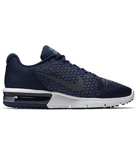 Nike Mens Air Max Sequent 2 Scarpe Da Corsa Binario Blu / Grigio Scuro / Scuro Ossidiana Taglia 11 M Us