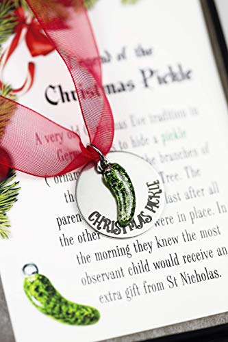 Christmas Pickle Ornament with Legend Card Gift Boxed Holiday Decor