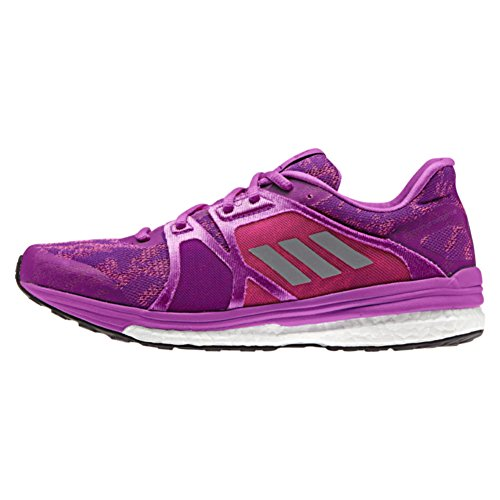 adidas Supernova Sequence 9 Womens Running Shoe 10.5 Purple/Silver Metallic/Shock Pink (Running Shoe Supernova Sequence Adidas)