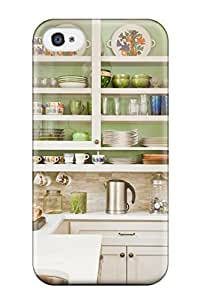 DebAA Snap On Hard Case Cover Kitchen Cabinets With Green Interior And Glass Doors Protector For Iphone 4/4s
