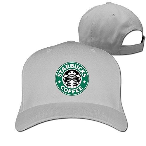 Unisex Black Starbucks Coffee Adjustable Snapback Trucker Cap Ash One Size ()