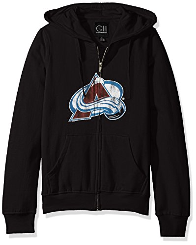 GIII For Her NHL Colorado Avalanche Women's Wildcat Full Zip Hoodie, X-Large, (Colorado Womens Zip Hoodie)