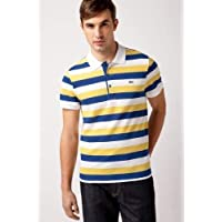 Lacoste Short Sleeve Bold Stripe Pique Polo Ph1409-51 Yellow