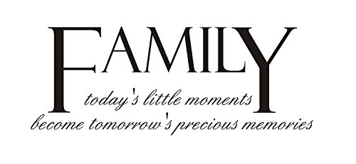 Newclew Family: today's little moments becomes tomorrow's precious memories Vinyl wall art Inspirational quotes and saying home decor decal sticke