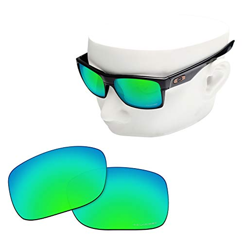 OOWLIT Replacement Lenses Compatible with Oakley TwoFace Sunglass Emerald Polycarbonate Combine8 Polarized