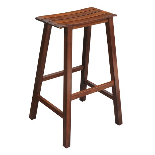 International Concepts Slat Seat Stool, 29-Inch Seat Height, Espresso ()