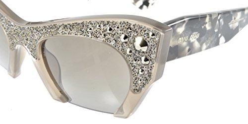 Sunglasses Miu Miu 02QS Brown Cat-eye