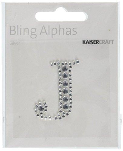 Kaisercraft - Rhinestone 'J' Silver