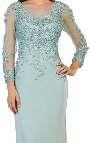 6b357412167 Formal Dress Shops FDS7594 Long Sleeve Modern Mother of The Bride Gown at  Amazon Women s Clothing store