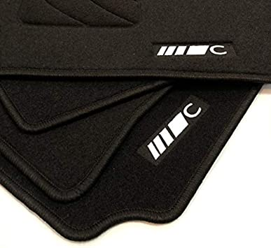 MERCEDES-BENZ ORIGINAL Set Di Tappetini in velour AMG CLASSE C 205 NERO 4 pezzi