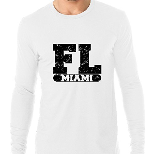 Hollywood Thread Miami, Florida FL Classic City State Sign Men's Long Sleeve T-Shirt