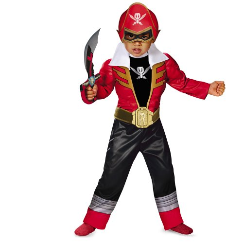 Disguise Toddler Super MegaForce Power Rangers Light-Up Costume Small (Red Power Ranger Megaforce Costume)