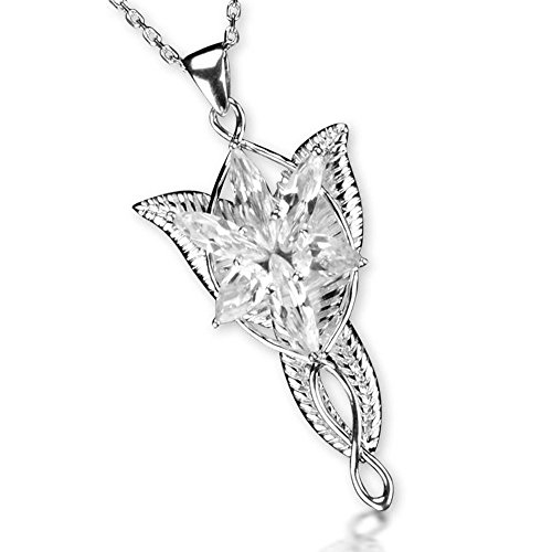 Movie Jewelry the Lord of the Rings Elven Leaf Brooch Arwen Evenstar Pendant Necklace