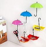 6x Cute Umbrella Wall Hooks Key Hanger Storage Sundries Home Wall Door Decor DIY