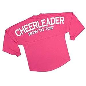 "Cheerleader ""BOW TO TOE"" Spirit Football Jersey (Hot Pink ..."