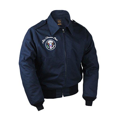 VTGDR Military Navy USAF Air Force Short Bomber Jacket Navy Blue Thin XL