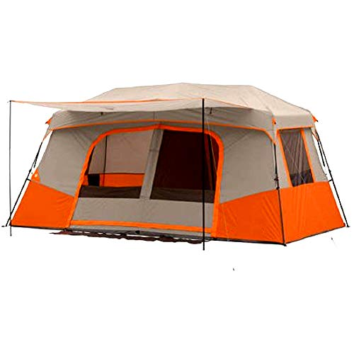 Skrootz-Camping-Tent-11-Person-Instant-Cabin-Private-Room-Orange-Color-Quick-2-Min-Setup-Gear-Organizer-Carry-Bag-Included